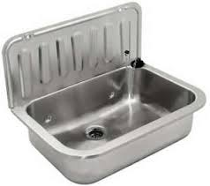 details zu edelstahl ausgussbecken waschbecken spülbecken waschtrog wandmontage 495 mm
