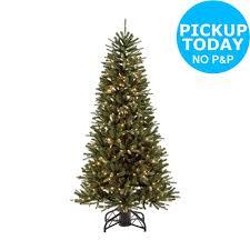 Pre Lit Slim Christmas Trees Argos by 7ft Pre Lit Upside Down Christmas Tree Green Argos Shop On