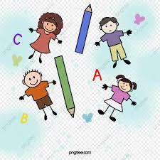 Los Niños De La Escuela Primaria Personajes De Dibujos