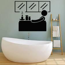 dekoration relax calm bathroom wall sticker bath panel