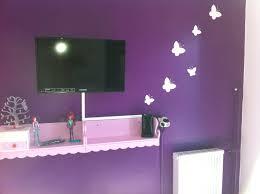 chambre enfant violet peinture chambre fille mauve