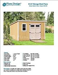 8x12 Shed Plans Materials List by 8 U0027 X 10 U0027 Deluxe Shed Plans Lean To Roof Style Design D0810l