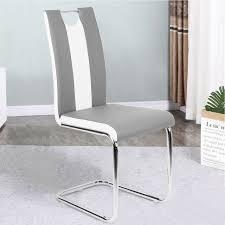 möbel 2x stühle freischwinger schwarz 86x60cm esszimmer