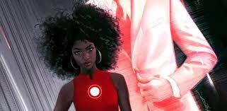 Une Femme Afro Américaine En Lisant Le Journal Le Prochain Iron De Marvel Sera Une Ado Et C Est