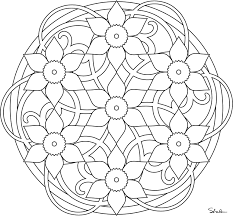 Simple Mandala Coloring Pages 17 45 Valentines Day Printable