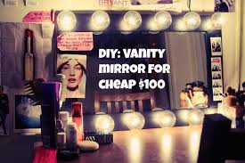 Diy Vanity Table With Lights by Diy Vanity Mirror Cheap Only 100 Youtube