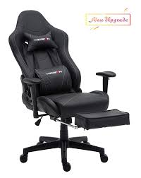 Morfan Gaming Chair Massage And Rocking Function With Footrest Large Size  Racing Style Ergonomic And Executive Tilt E-Sports Chair With Movable ...