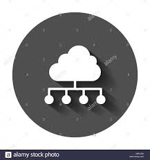 100 Flat Cloud Computing Technology Vector Icon In Flat Style Laptop Screen