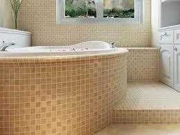 minimal dicke keramik mosaik fliesen badezimmer rutschfeste bodenfliese badewanne dekoration kamin tv hintergrund wand