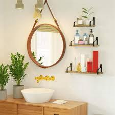 wisfor 3er set u form wandregal metall holz schweberegal wandboard hängeregal für küche badezimmer flur