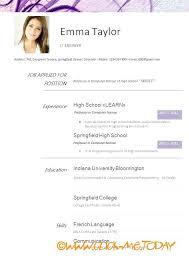 Resume Format For Ojt