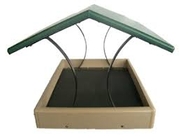 Birds Choice Recycled Fly thru Platform Bird Feeder