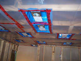 Hanging Drywall On Ceiling Or Walls First by How To Install Poly Vapor Barrier