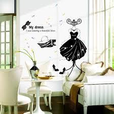 kreative meine wand aufkleber mode frauen bekleidungsgeschäft fenster aufkleber dekorative glaswand aufkleber glastür aufkleber
