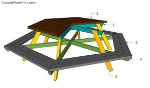 Building Plans For Hexagon Picnic Table by Hexagon Picnic Table Plans Free Garden Plans How To Build