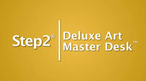 Step2 Deluxe Art Desk With Splat Mat by Deluxe Art Master Desk Kids Art Desk Step2