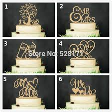 Eco Friendly Wedding We Do Mr MrsWooden Cake Topper