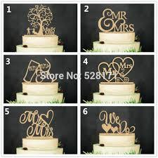 Eco Friendly Wedding We Do Mr MrsWooden Cake Topper