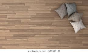 Stylish Background With Parquet And Soft Pillows Top View 3d Illustration
