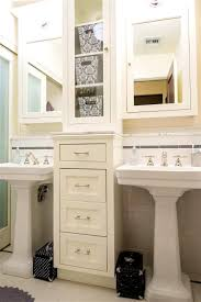 Home Depot Pedestal Sink Cabinet by Under Sinks Inspiration Around Double Pedestal Sinks With Storage