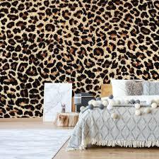 tapete vlies fototapete für wohnzimmer tierfellmuster leopardenmuster leopard