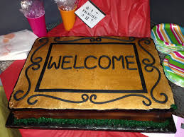 Housewarming Cake Welcome Mat Made From