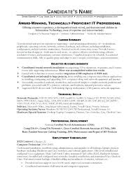 It Resume Samples Sample Resumes Example Simple For High Pdf Job Technician Automotive Examples