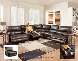 Reclining Sectional 6 Pc Roman Chocolate American Furniture