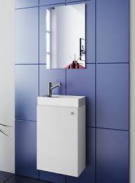 waschplatz weiß waschbecken mit schrank spiegel wc gäste toilette klein schmal ebay