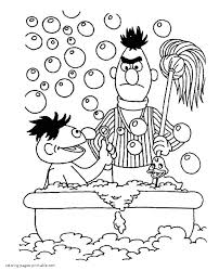 Ernie And Bert Coloring Page Sesame Street Printable