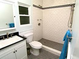 inspiring idea white subway tile bathroom ideas black and in