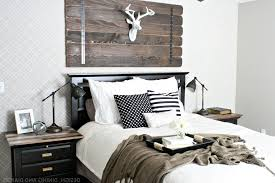 White King Headboard Wood by Modern Master Bedroom Decor Wall Mounted Wooden Rectangle Long
