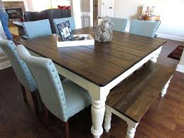 Kitchen Tables Ideas Brilliant Design Farmhouse Table Best With Bench On Diy Centerpiece