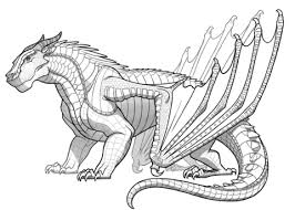 Click To See Printable Version Of Mudwing Dragon From Wings Fire Coloring Page