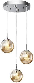 hws pendelleuchte glas glaskugel vintage pendelle kristall kronleuchter hängeleuchte kugel hängele wohnzimmer design höhenverstellbar innen
