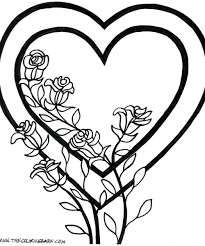 Free Rose Coloring Pages For Adults Flower Page Printable Sheets When Valentine Day Compass Amy