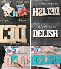 DIY Kitchen Decor Series Lettered Sign