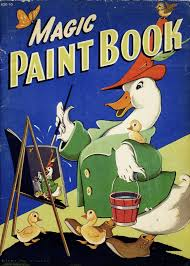 Magic Paint Book With Water Whitman Publishing Co Dots Of Were Already On The Page All You Needed Was A Brush And Cup