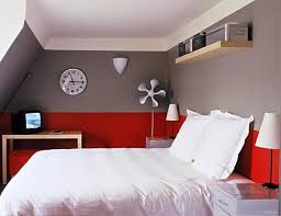 Extraordinary Red And Grey Bedroom