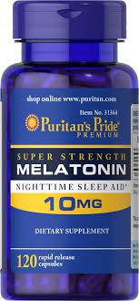 Melatonin 10 Mg 120 Rapid Release Capsules   Puritan's Pride