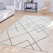 wohnzimmer teppich modernes rauten design skandi kurzflor