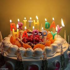 Happy Birthday Letter Cake Candles Cake Decorating Delights