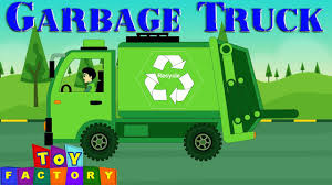 Garbage Truck Videos For Children - Green Trash Truck Videos For ...