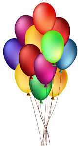 329x600 Bunch of Colorful Balloons PNG Clip Art Image WISHING YOU A HBD