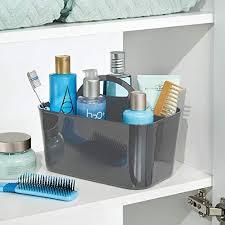 mdesign aufbewahrungsbox für badezimmer kunststoff klein pack of 2 anthrazit