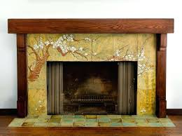 arts and crafts tile fireplace writteninconcrete