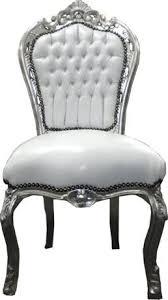 barock esszimmer stuhl weiß silber ludwig xiv stuhl wohnung wohnen rokoko jugendstil