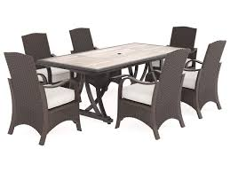 Ashley Signature Design Marsh Creek 7 Piece Outdoor Dining Set