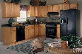 blue paint colors with oak cabinets