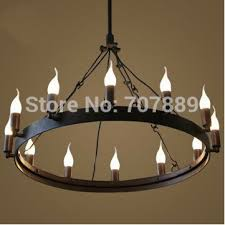 Vintage Style Candle Chandelier American Country Dining Room Lamp With Regard To Awesome Home Wrought Iron Ideas